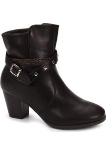 Ankle Boots Feminina Mooncity - Cafe