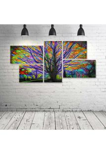 Quadro Decorativo - Tree-Colors - Composto De 5 Quadros