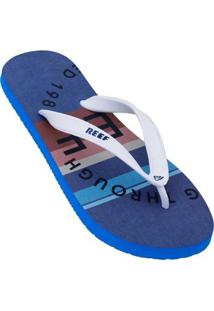 8d397ba66a73f0 Chinelo Reef Switchfoot Simple Masculino - Masculino-Azul+Branco