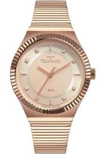 Relógio Technos Style 2035Mrv/4T Feminino - Feminino-Rosa