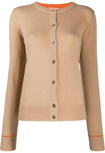Tory Burch Crew-Neck Knit Cardigan - Neutro