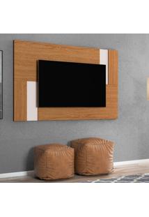 Painel Home Extensível Para Tv Até 55 Polegadas Delfos Colibri Móveis Natural Real/Off White
