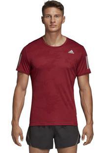 Camiseta Response Tee M - Vermelho Escuro & Cinza Claro