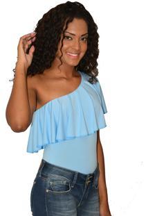 Body Urban Lady Babado Azul