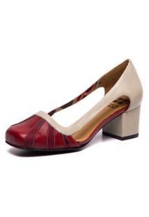 Sapato De Couro - Amora / Marsala / Araçá 7316 - Brenda Lee Mzq