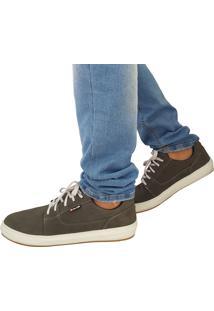 Sapatênis Proence Em Couro Skate Califórnia Cinza
