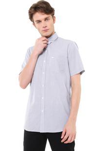 Camisa Lacoste Reta Quadriculada Preta/Branca