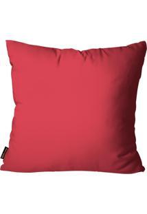 Capa Para Almofada Premium Cetim Mdecore Lisa Vermelha 45X45Cm