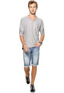 Camisa Docthos Listrado Azul-Marinho