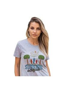 Camiseta Feminina Mirat The Best In Ca Mescla