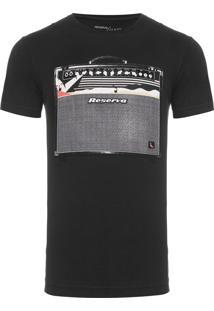 Camiseta Masculina Estampada Amp - Preto