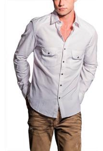 Camisa R.Mendes Veludo Branco