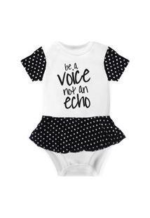 Body Com Saia Nerderia E Lojaria Voice Not Echo Branco..