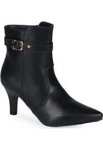 Ankle Boots Feminina Mooncity Textura Preto