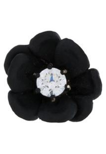 E.M. Brinco Único Floral Com Cristal - Metálico