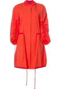 Josie Natori Drawstring Sleeve Coat - Vermelho