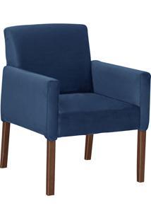 Poltrona Decorativa Karina-Mobisul - Azul Marinho