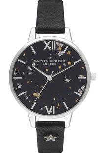 Relógio Olivia Burton Feminino Couro Preto - Ob16Gd13