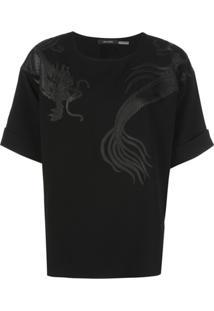 Natori Blusa Com Aplicação De Dragão - Preto
