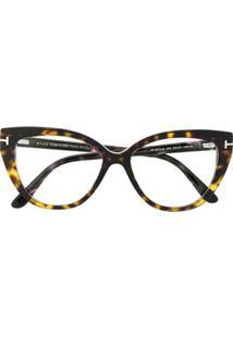 Tom Ford Eyewear Óculos De Sol Gatinho - Marrom