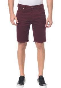 Bermuda Color Five Pockets - Bordo - 36