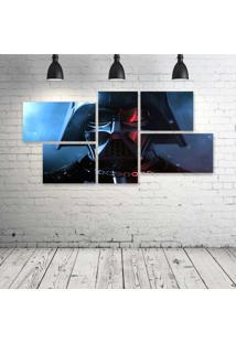 Quadro Decorativo - Darth-Vader- - Composto De 5 Quadros