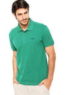 Camisa Polo Sommer Básica Bordado Verde