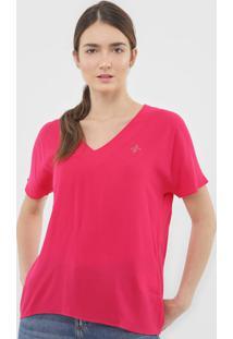 Blusa Dudalina Logo Pink