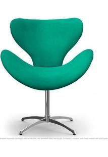 Cadeira Com Capitonê Decorativa Poltrona Egg Amarela Com Base Giratória