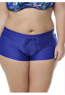 Calcinha Shorts Plus Size Acqua Rosa Azul Royal