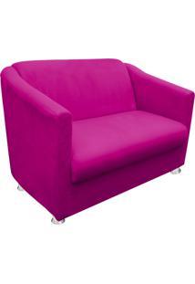 Namoradeira Decorativa Tilla 2 Lugares Suede Pink - D'Rossi - Tricae
