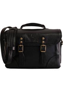 Bolsa Line Store Leather Case Couro Preto.