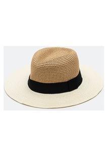 Chapéu De Palha Com Gorgurão | Bossa Nossa | Bege | U