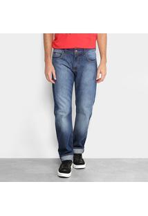 Calça Jeans Slim Forum Estonada Paul Regular Masculina - Masculino-Azul