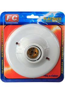 Plafonier Para 1 Lâmpada Branco