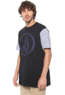 Camiseta Volcom Refiner Ii Preta/Cinza