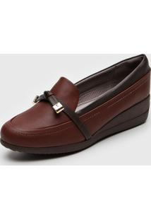 Mocassim Piccadilly Anabela Marrom