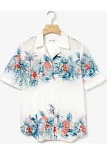 Camisa Lacoste Regular Fit Feminina - Feminino-Branco