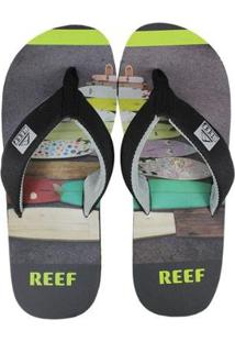 Chinelo Reef Clurg Key Black Gray Masculino - Masculino