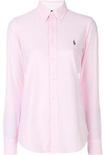 Polo Ralph Lauren Camisa Listrada - Rosa 336e2bd73627f