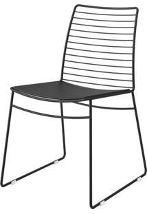 Cadeira 1712 Cor Preto Com Assento Courissimo Preto - 27677 - Sun House