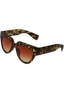 Óculos De Sol Ray Flector Buckingham Vgt563Co Feminino - Feminino-Amarelo+Preto
