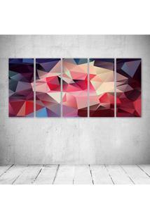 Quadro Decorativo - Pattern Digital Art - Composto De 5 Quadros