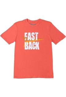 Camiseta Fast Back 20448 Masculina - Masculino-Laranja
