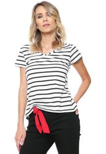 Camiseta Malwee Listras Branca