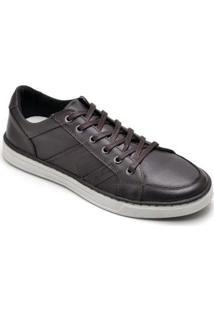 Sapatênis D&R Shoes Em Couro Masculino - Masculino-Marrom