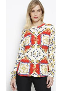Camisa Arabescos- Branca & Dourada- Vip Reservavip Reserva