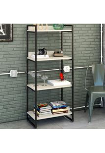 Estante Para Livros 4 Prateleiras Snow 8391 - Compace