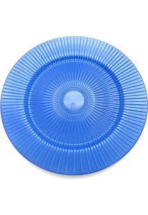 Sousplat De Plástico Le Plisse Azul 33Cm