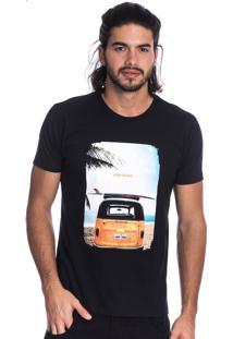 Camiseta Long Island Kombi Preta